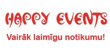 Logo Piepūšamo atrakciju noma Happy events
